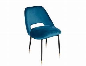 Chaise Velours Bleu : la chaise healey une chaise en velours dans le style des ann es 50 la finition irr prochable ~ Teatrodelosmanantiales.com Idées de Décoration