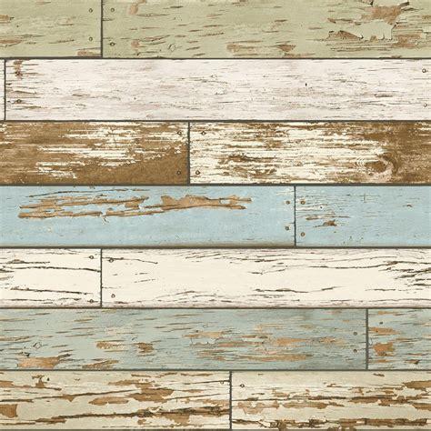 Holz Vintage Look by Nuwallpaper Multi Color Salem Vintage Wood Peel And