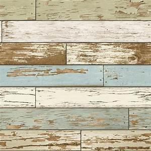 NuWallpaper Multi Color Old Salem Vintage Wood Peel and ...