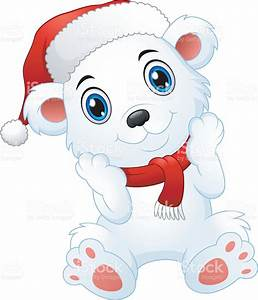 Cute Christmas Polar Bear Cartoon Stock Vector Art & More ...