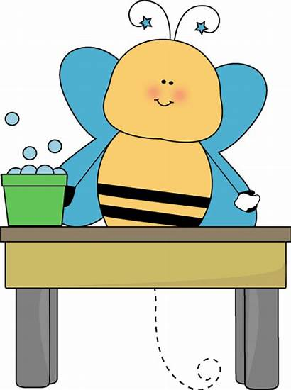 Table Clip Clipart Classroom Washer Bee Round