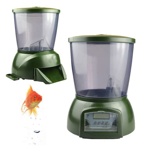 timer cuisine 4 25l automatic pond fish feeder digital tank pond fish