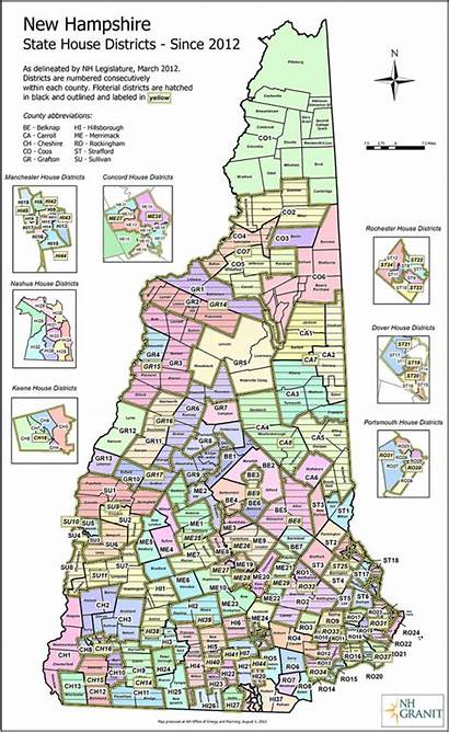 District Map Maps Nh Hampshire Towns Representatives