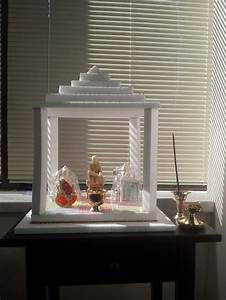 Pooja Mandir made out of thermocol ! My Art world