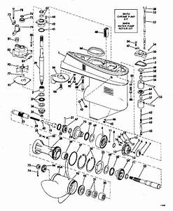 Johnson Gearcase Parts For 1971 50hp 50esl71s Outboard Motor