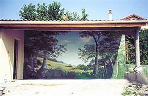 best image trompe oeil jardin gallery seiunkelus With trompe l oeil exterieur jardin 2 enrichir la decoration de son jardin avec du treillage