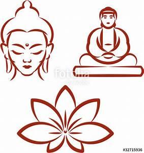"""Buddha and Lotus -Symbols of Buddhism . Vector ..."