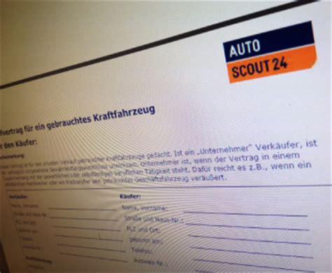 autoscoutde kfz kaufvertrag autofreund