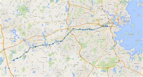 Boston Marathon Route Map