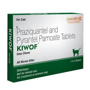 kiwof for cats praziquantel 20mg pyrantel embonate 230mg 4