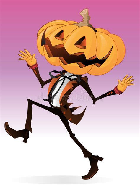 scary pumpkin character stock vector illustration  fall