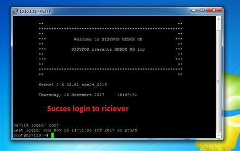 How To Connect Putty To Riciever Enigma2 Satellite And