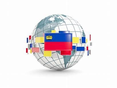 Flags Globe Line Liechtenstein Terms Following Under