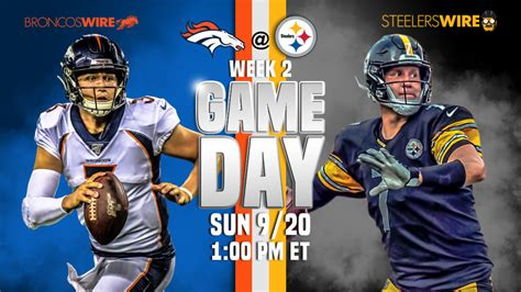 denver broncos  pittsburgh steelers  game updates
