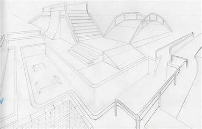 Skate Park Drawings Draw Sketches Coloring Sketch