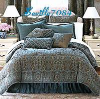 teal and brown bedding 6P FULL Chris Madden AVONDALE Teal Blue,Brown Comforter ...
