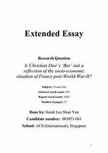 extended essay structure do your homework french business management  ib biology extended essay structure creative writing program berlin