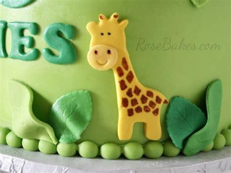 jungle st birthday cake smash cake rose bakes