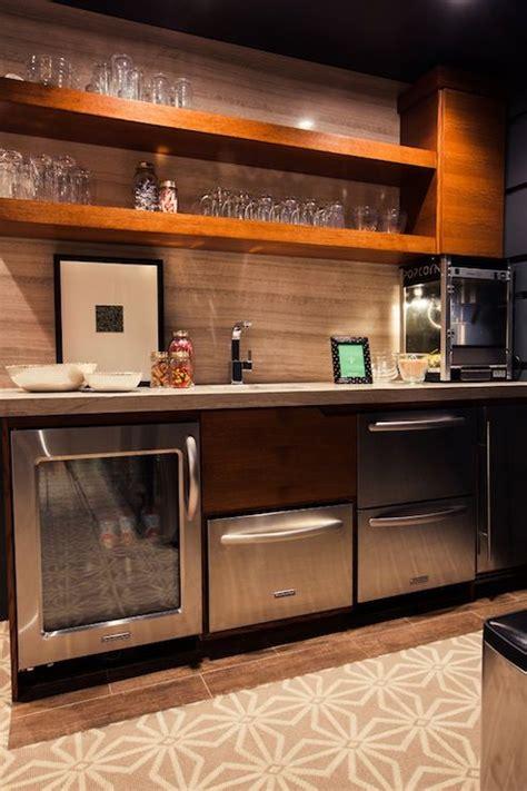 Basement Bar Fridge by Home Media Rooms Kitchenette Basement