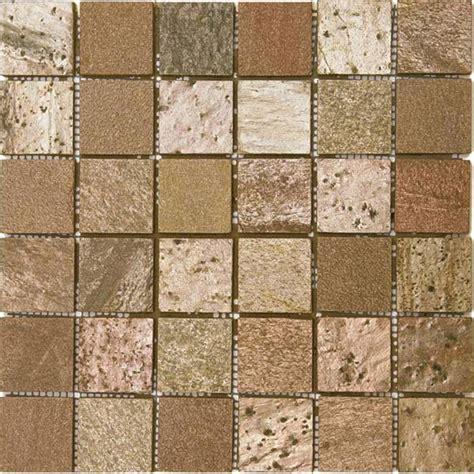 bati orient tile bati orient mosaic 2 x 2 copper polished quartzite