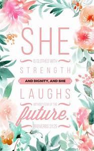 Proverbs 31:25 | Bible verse background | Pinterest ...
