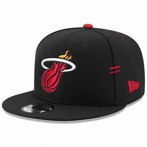 Miami Heat New Era NBA Hasher 9FIFTY Snapback Hat - Black ...