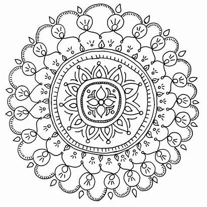 Coloring Pages Adult Adults Downloadable Mandala Diy