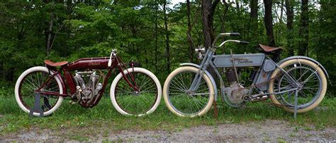 1913 Board-track Racing Indian And 1910 Harley Davidson