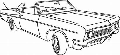 Coloring Lowrider Pages Classic Cool Cars Drawings