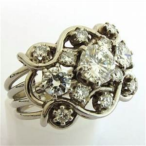 bijou 1950 1960 bague platine diamants 766 bijoux With bijoux platine
