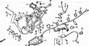 Honda Atv 1983 Oem Parts Diagram For Frame    Wire Harness