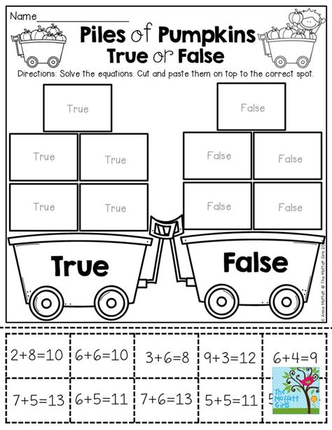 true false number sentences 4th grade worksheets number