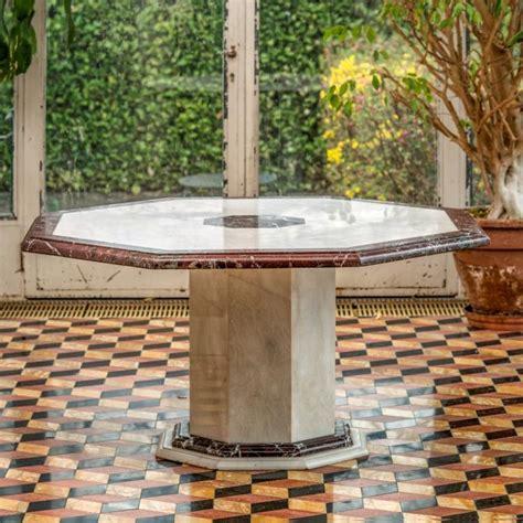 table salle a manger bois et blanc table de salle 224 manger xxe s 224 plateau octogonal en marb