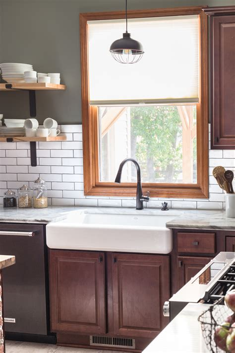 Kitchen with Countertop Sink Reveal