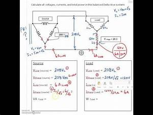 3 Phase Calculation  7  Delta Source  Wye Load