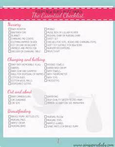 New Baby Checklist Newborn Printable