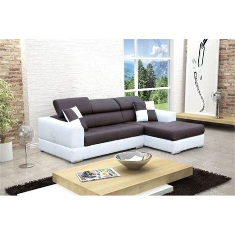 canapé droit design canape d angle droit design noir et blanc madrid achat