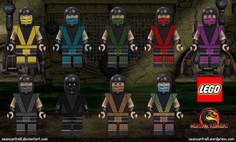 Lego Mortal Kombat Minifigures Male Ninja Sean Cantrell