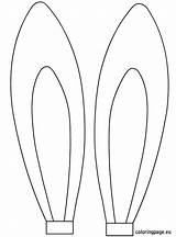 Ears Easter Template Rabbit Coloring Bunny Cut Printable Face Shapes Cartoon Paper Egg Eggs sketch template