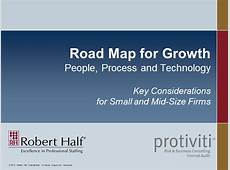 Road Map for Growth — People, Process & Technology Key