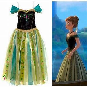 robe anna deguisement adulte cosplay princesse anna vert With robe du couronnement anna