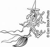 Witch Illustration Clipart Cartoon Vector Illustrations Hag Halloween Sorceress Tooth Coloring Canstockphoto sketch template