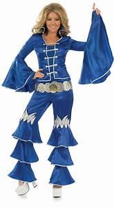 70 Er Jahre Outfit : kost m dancing queen blau damen 70er jahre verkleidung disco abba outfit 34 50 ebay ~ Frokenaadalensverden.com Haus und Dekorationen
