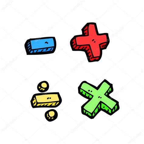 Dibujos animados de símbolos de matemáticas de la