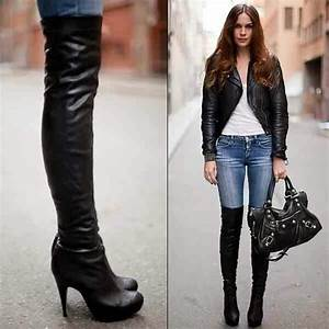 Over the knee high heel boots...sexy! | Outfit Ideas | Pinterest | Sexy Tall boots and High ...