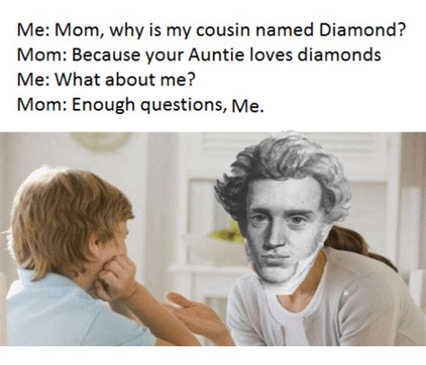what is my parents cousin to me me mom why is my cousin named diamond mom because your auntie loves diamonds me what about me