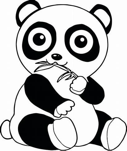 Panda Coloring Pages Printable Bear Getcolorings Sheets