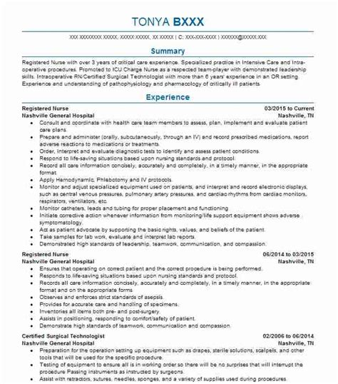 Registered Professional Summary by Best Registered Resume Exle Livecareer