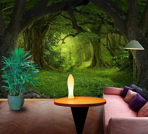 Here you can get the best green forest wallpapers for your desktop and mobile devices. 3D Dark green forest 1 Wall Murals Wallpaper Decal Decor Home Kids Nursery Mural #Unbranded ...