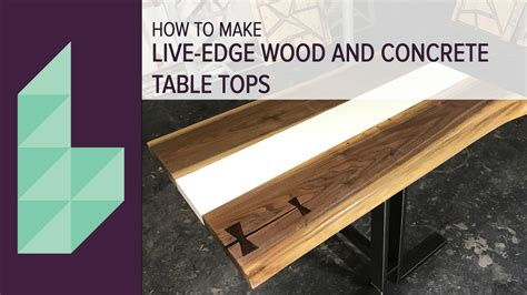 concrete  wood table top youtube